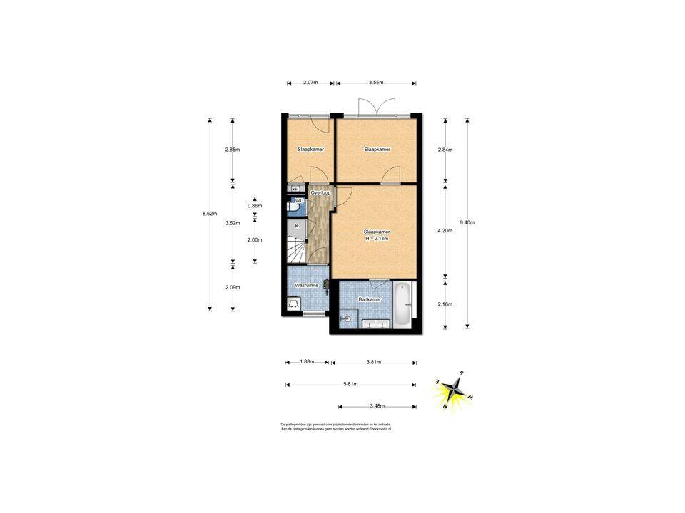 Dirk Hoogenraadstraat 121, Den Haag floorplan-1