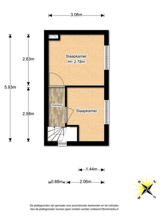 Leeuwendaallaan 73, Rijswijk floorplan-1