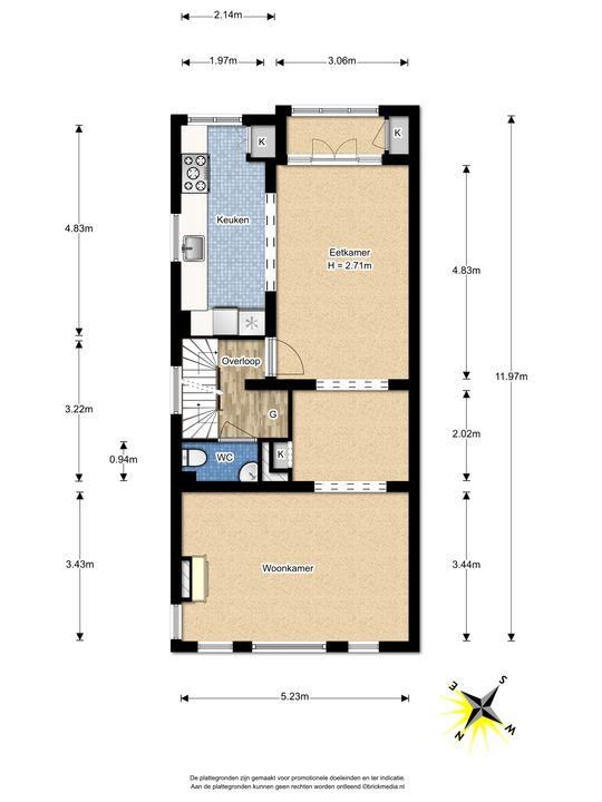 Tuinluststraat 24, Voorburg floorplan-1