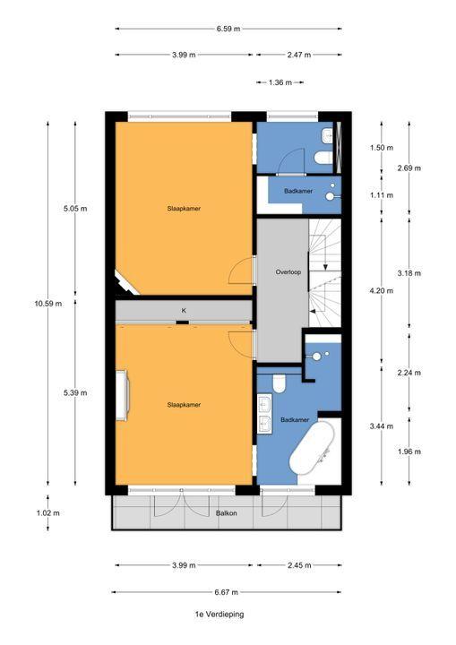 Laan van Leeuwesteyn 2, Voorburg floorplan-1
