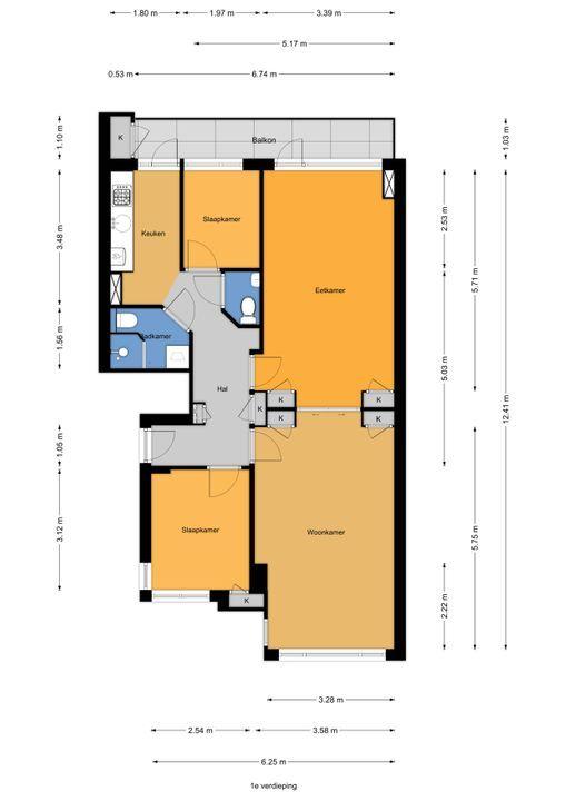 Juliana van Stolberglaan 333, Den Haag floorplan-0