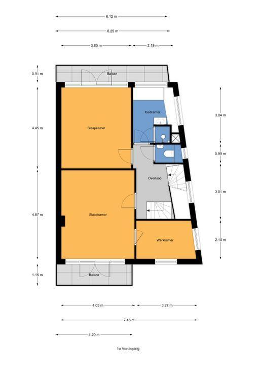 Parkweg 312, Voorburg floorplan-1