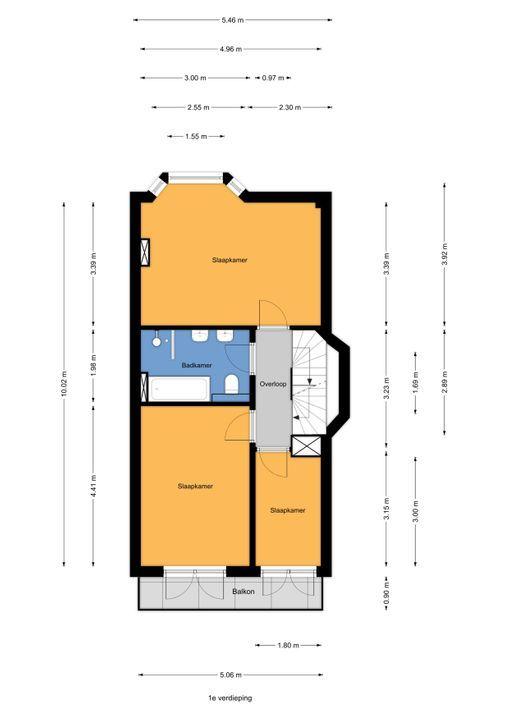 Meloenstraat 129, Den Haag floorplan-1
