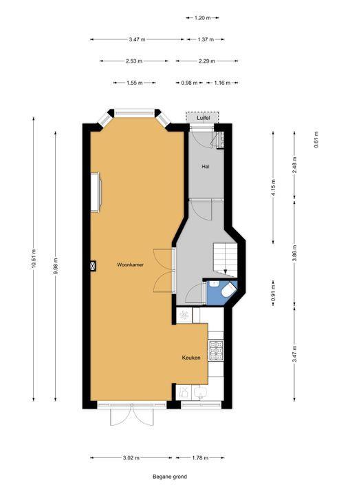 Meloenstraat 129, Den Haag floorplan-0