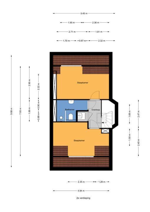Meloenstraat 129, Den Haag floorplan-2