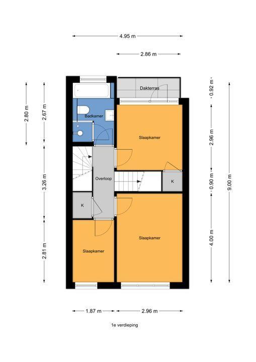 Agrippinastraat 53, Voorburg floorplan-1