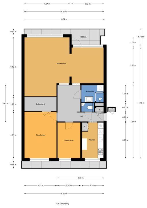 Monseigneur van Steelaan 199, Voorburg floorplan-0