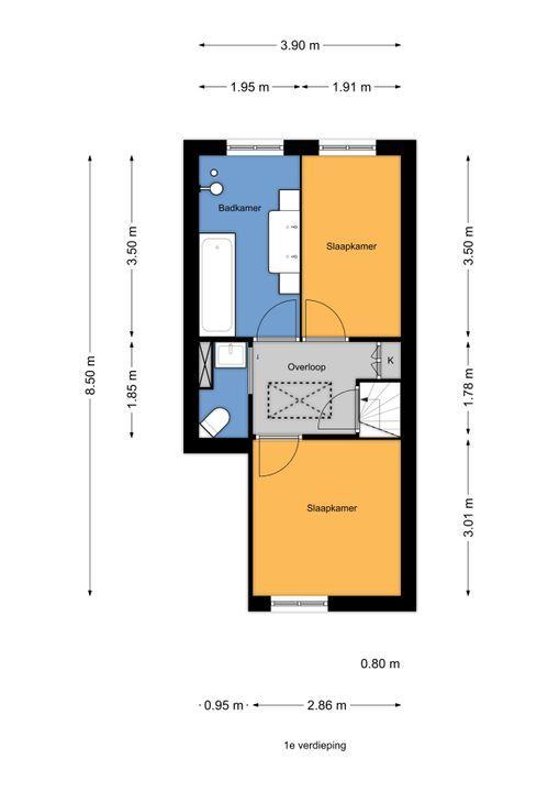 Loolaan 22, Voorburg floorplan-1