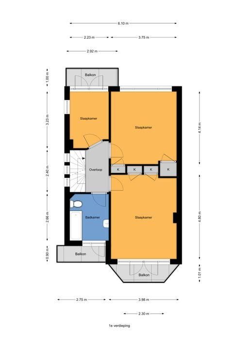 Schellinglaan 3, Voorburg floorplan-1