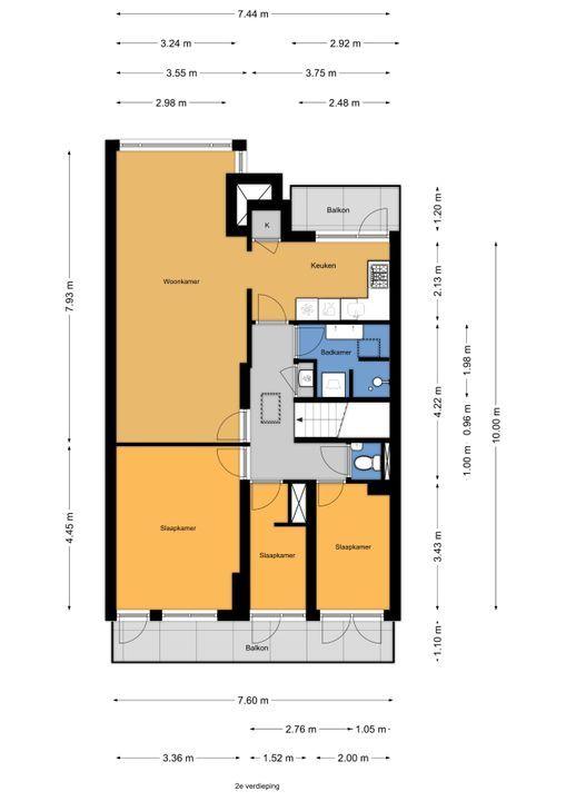 Juliana van Stolberglaan 275, Den Haag floorplan-1