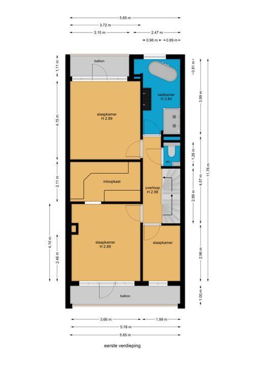 van Woudekade 19, Voorburg floorplan-1