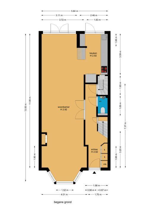 van Woudekade 19, Voorburg floorplan-0