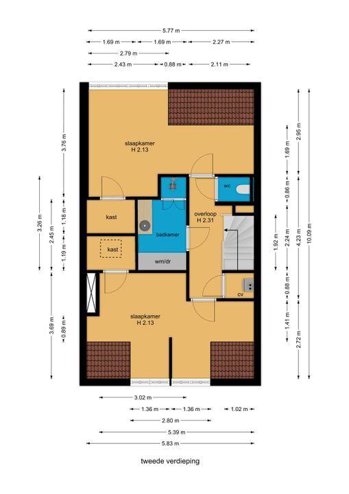 van Woudekade 19, Voorburg floorplan-2