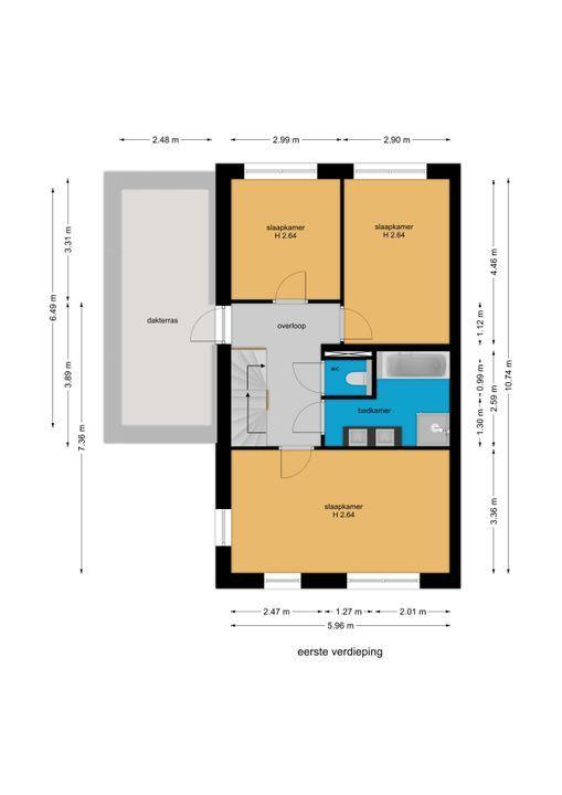 Watermolensingel 14, Leidschendam floorplan-1