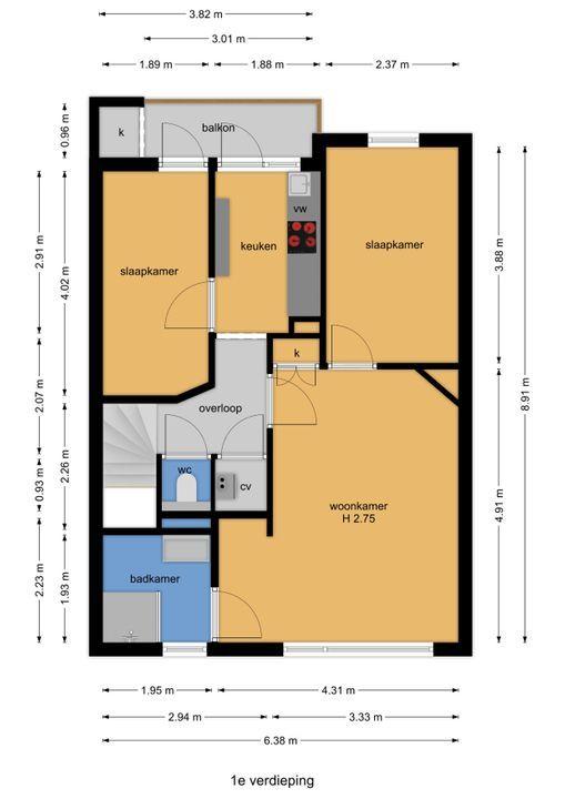 van Halewijnlaan 227, Voorburg floorplan-1