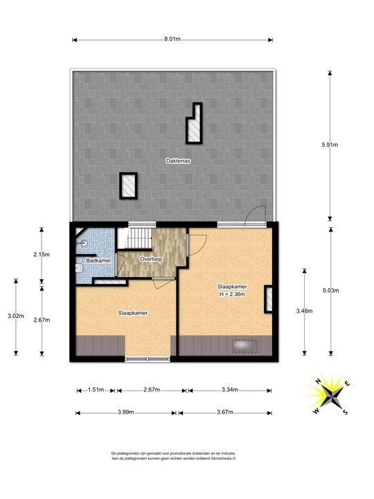 Koningin Wilhelminalaan 401 A, Voorburg floorplan-2
