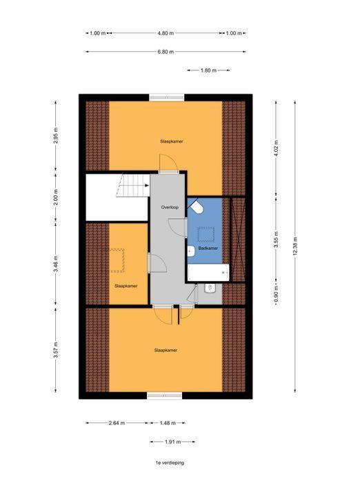 Voorweg 163 A., Zoetermeer floorplan-1