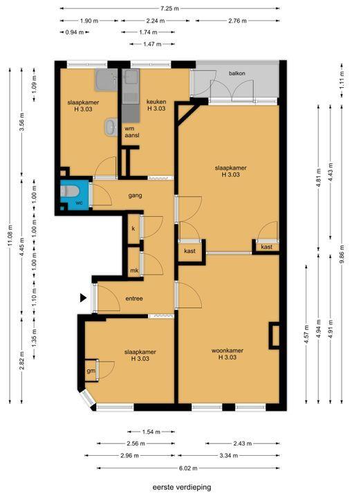 Usselincxstraat 153, Den Haag floorplan-0