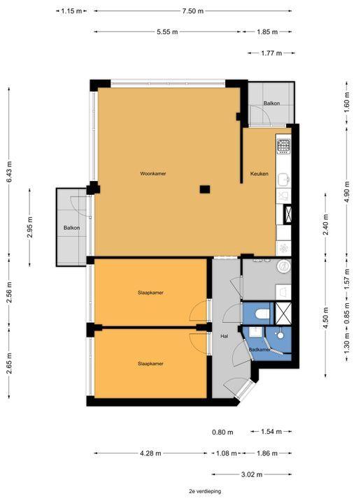 Gerstkamp 186, Den Haag floorplan-0