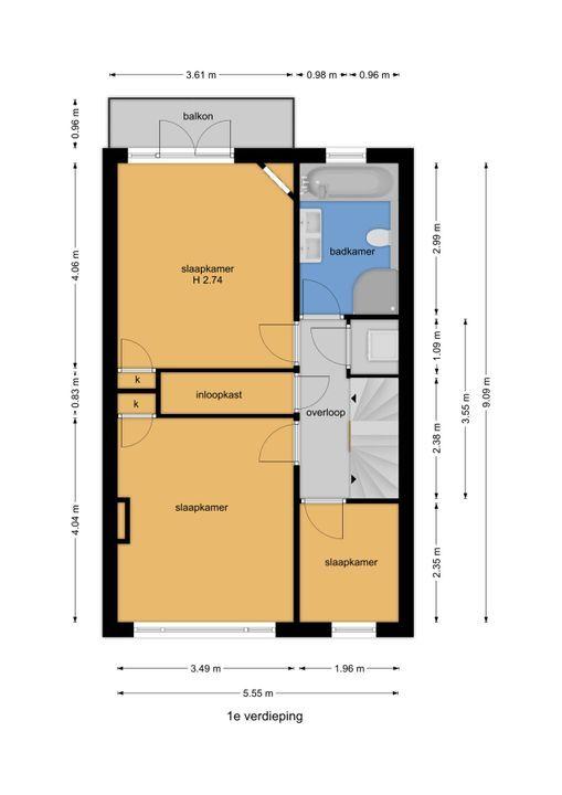 Essesteijnstraat 153, Voorburg floorplan-1