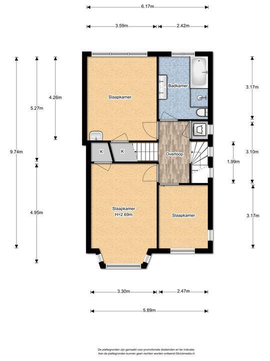 Hoge Weidelaan 25, Voorburg floorplan-1