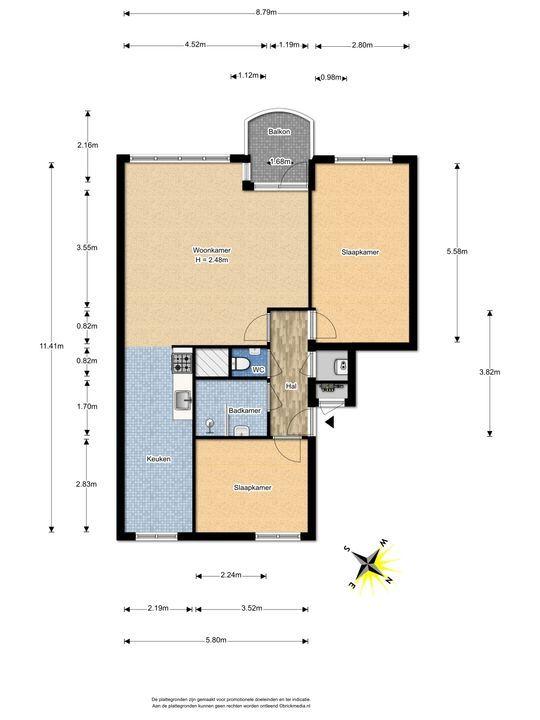 Margarethaland 379, Den Haag floorplan-0