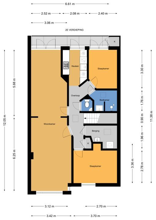 van Halewijnlaan 445, Voorburg floorplan-1