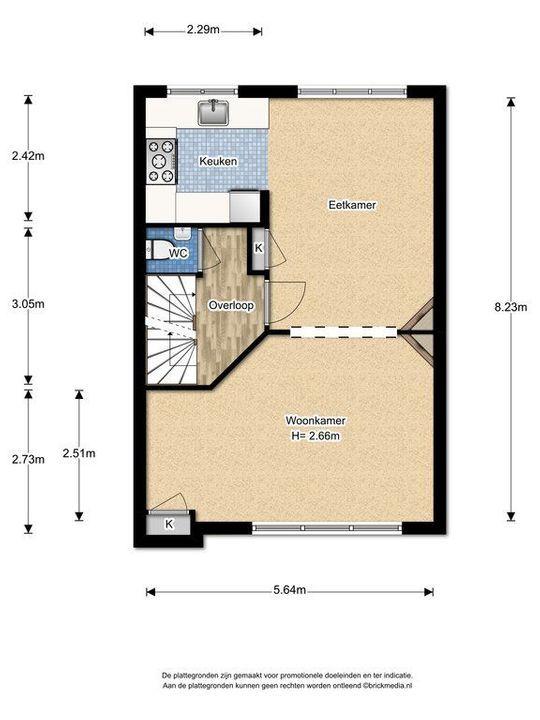 Rembrandtlaan 26 ., Voorburg floorplan-1