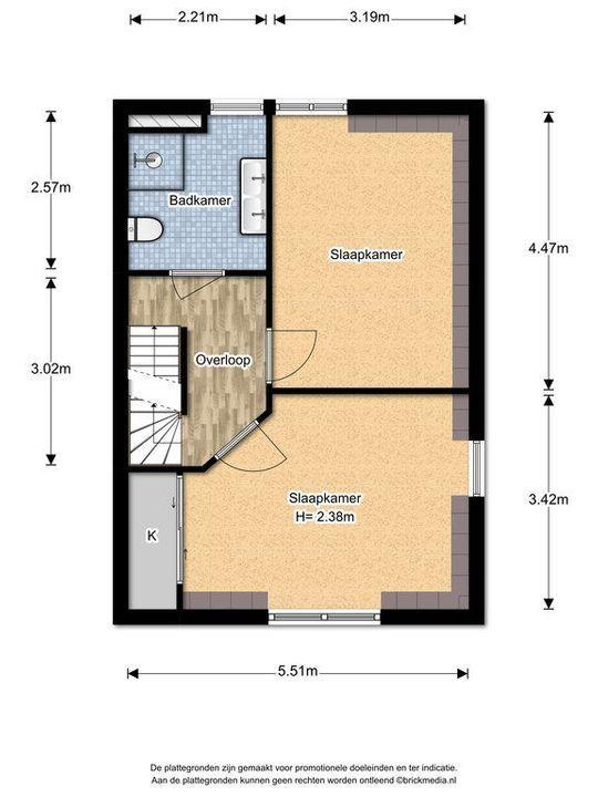 Rembrandtlaan 26 ., Voorburg floorplan-2