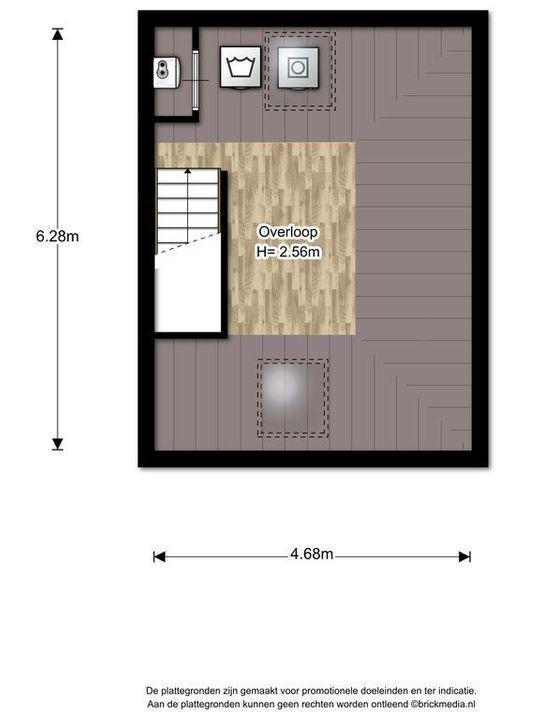 Rembrandtlaan 26 ., Voorburg floorplan-3