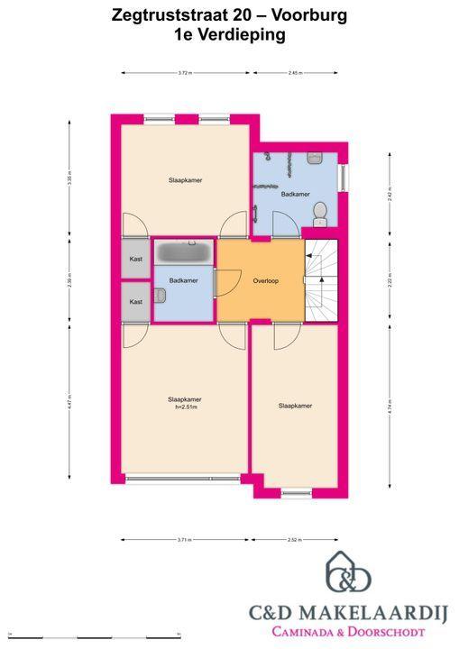 Zegtruststraat 20, Voorburg floorplan-1