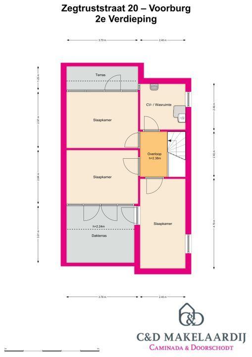Zegtruststraat 20, Voorburg floorplan-2