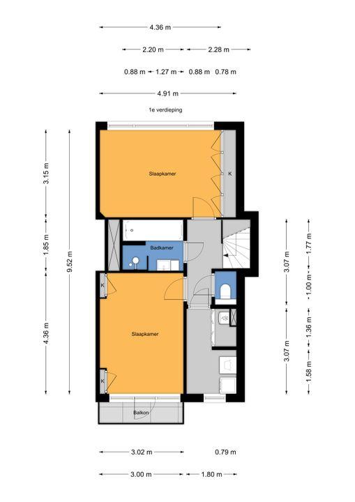 Paradijsstraat 107, Voorburg floorplan-1