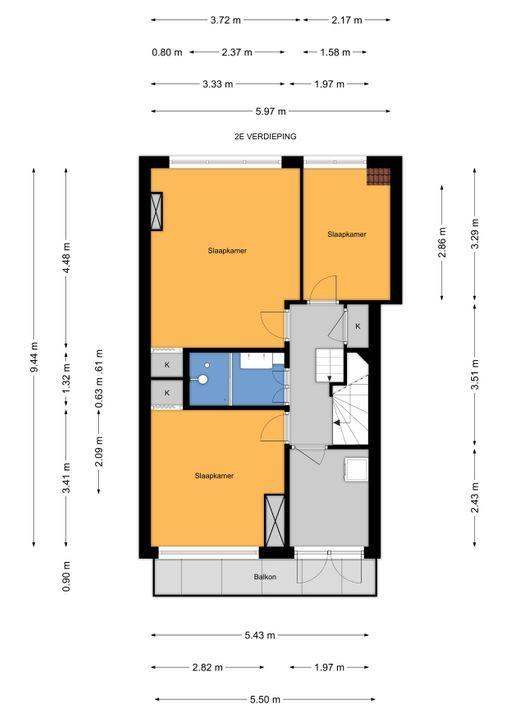 van Faukenbergestraat 144, Voorburg floorplan-1