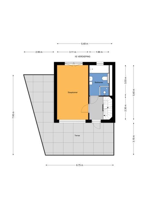 Libelsingel 51, Den Haag floorplan-1