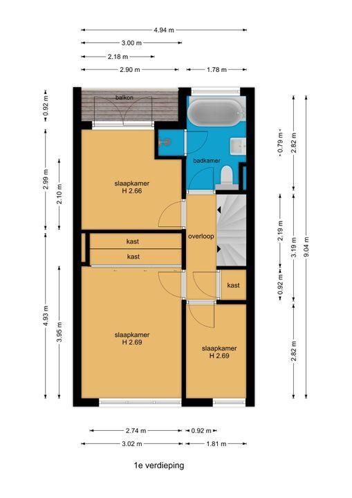 Agrippinastraat 47, Voorburg floorplan-1