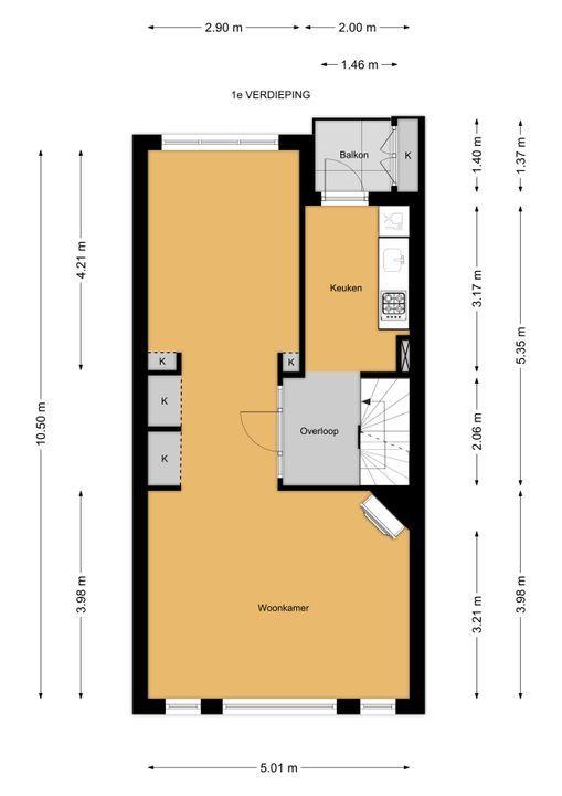 Staringkade 51, Voorburg floorplan-1