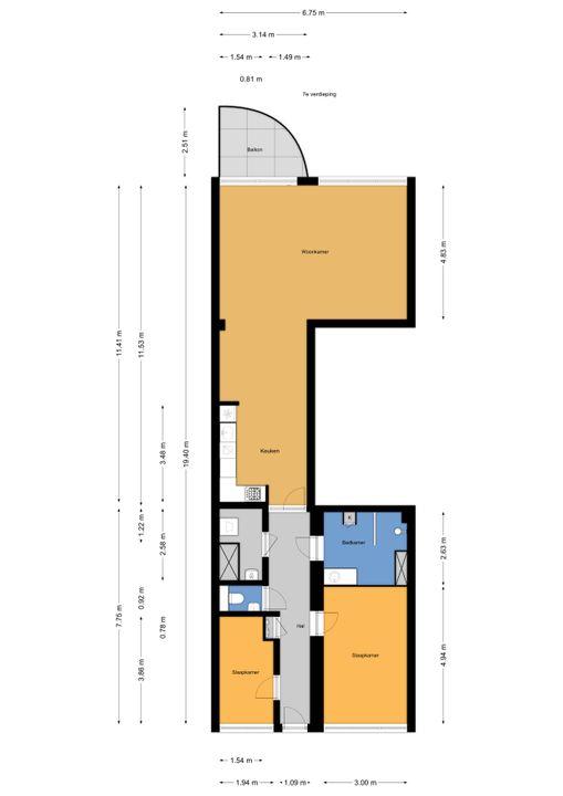 Dokter Van Ledestraat 106, Leidschendam floorplan-0