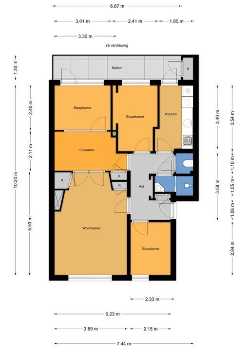 Prins Bernhardlaan 117, Voorburg floorplan-0