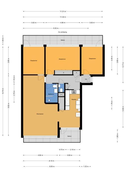 Klaverweide 126, Voorburg floorplan-0