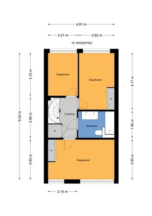Prins Bernhardlaan 317, Voorburg floorplan-1