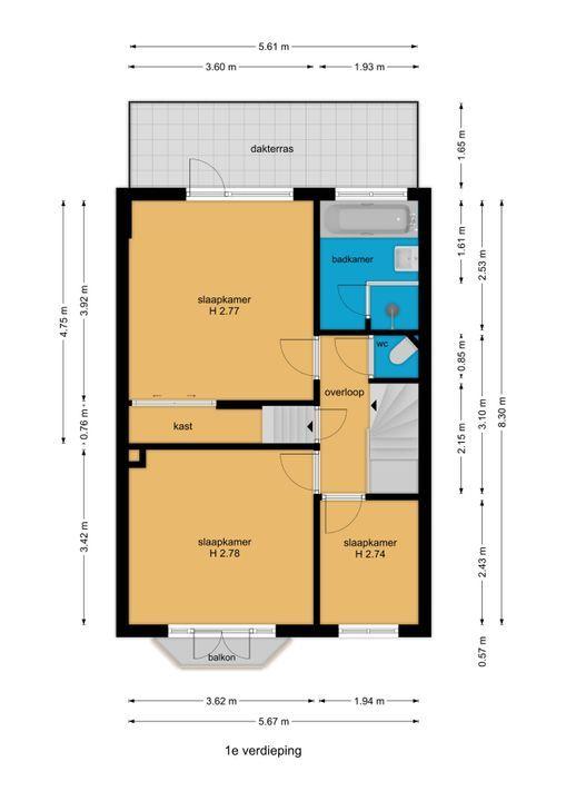 Woelwijkstraat 6, Voorburg floorplan-1