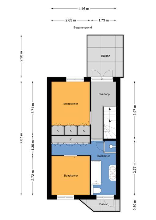 Mauritsstraat 24, Voorburg floorplan-1
