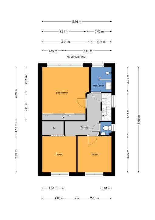 Mauvelaan 11 ., Leidschendam floorplan-1