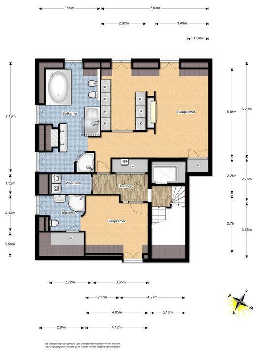 Arentsburghlaan 1 B, Voorburg floorplan-2