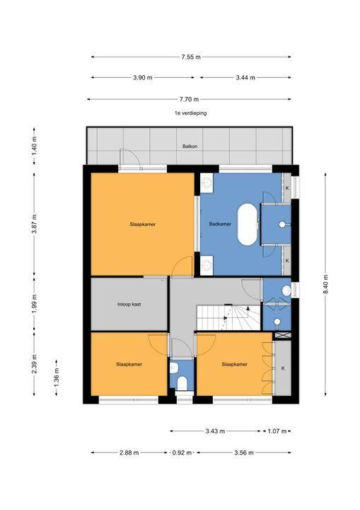 Truus Schroderhof 2, Voorburg floorplan-1