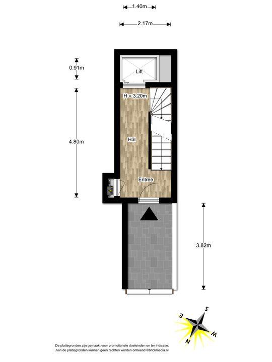 Arentsburghlaan 1 B, Voorburg floorplan-0