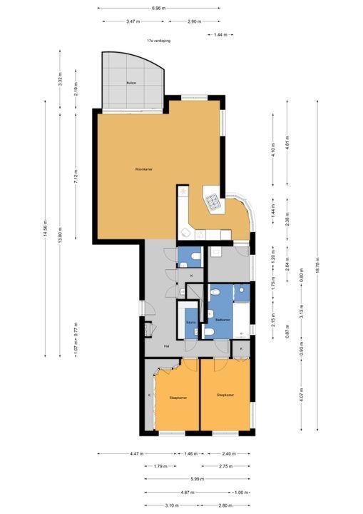 Spinozalaan 1 U II, Voorburg floorplan-0