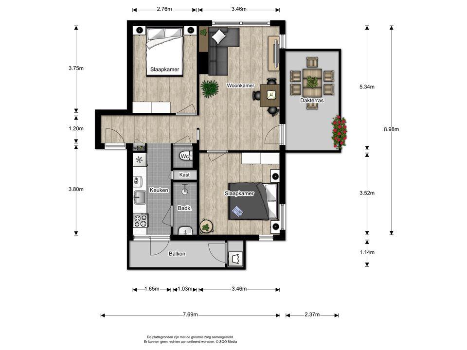 Aart van der Leeuwkade 165, Voorburg floorplan-0