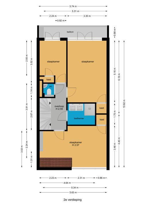Laan van Nieuw Oosteinde 195, Voorburg floorplan-2